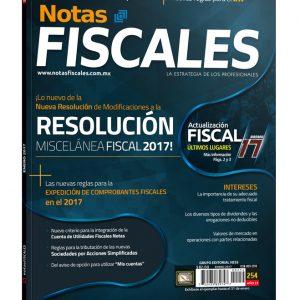 NOTAS FISCALES 254 (Enero 2017) <h5>Revista solo disponible en formato digital</h5>
