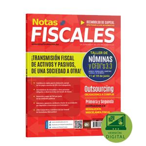 NOTAS FISCALES 271 (Junio 2018)<h5>Revista solo disponible en formato Digital</h5>