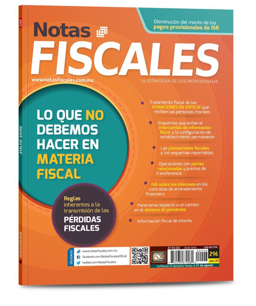 Notas Fiscales 296 (Julio 2020)