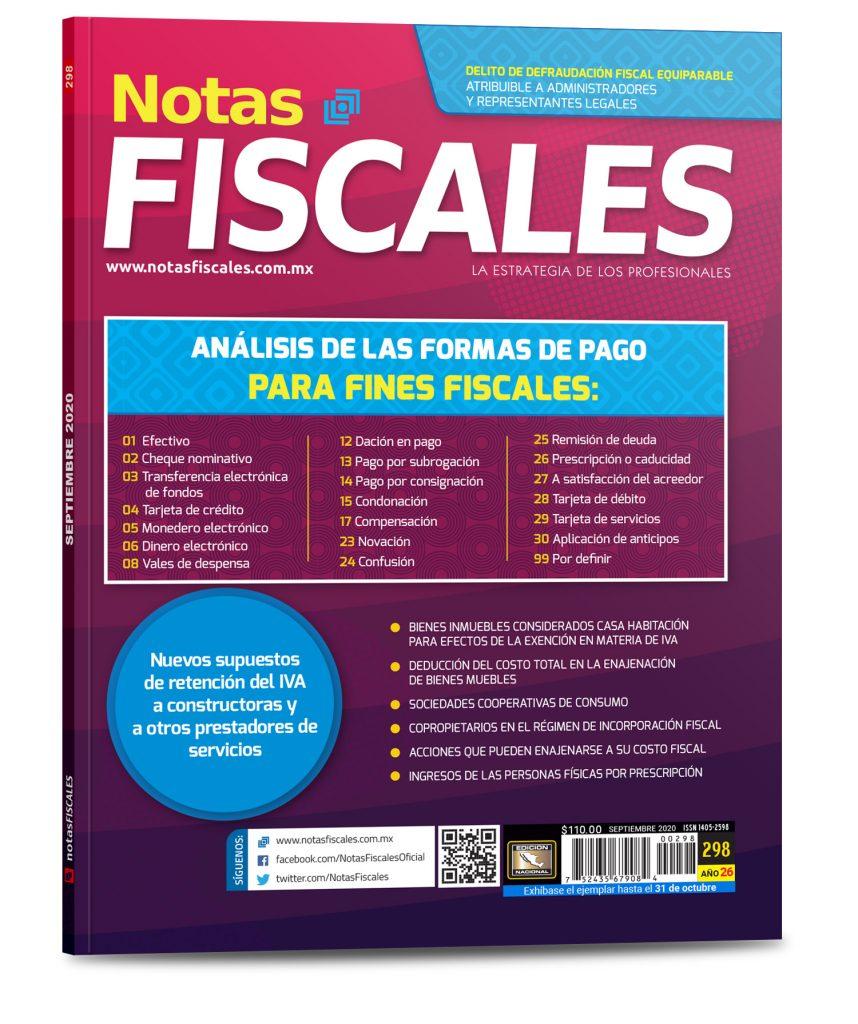 Notas Fiscales 298 (Septiembre 2020)