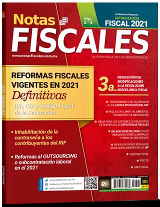 Notas Fiscales 301 (Diciembre 2021)