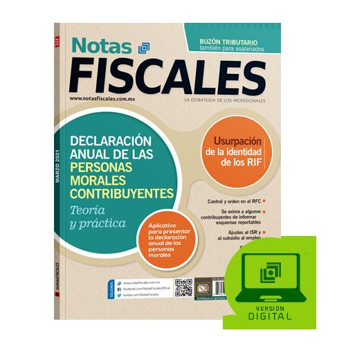 Notas fiscales 304 marzo 2021