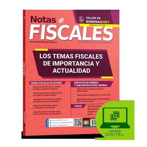 Notas Fiscales 307 (julio 2021)