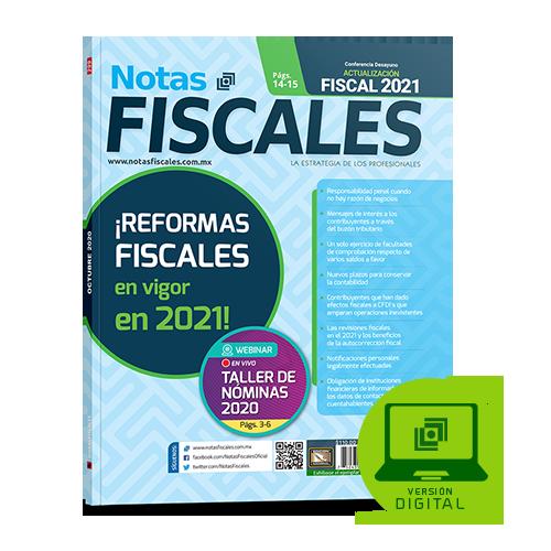 Notas Fiscales 299 (octubre 2020)