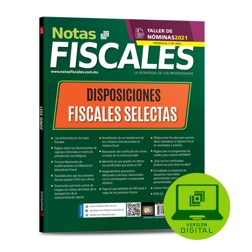 Notas Fiscales 307 (junio 2021)