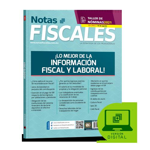 Notas Fiscales 309 (agosto 2021)