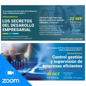 Conferencias: Los secretos del desarrollo empresarial + Control, gestión, supervisión de empresas eficientes